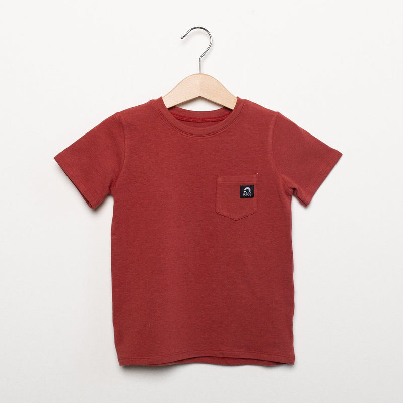 Short Sleeve Kids Essentials Tee - 'Multiple Color Options' - Rust, Phantom Black, Olive, or Icy Blue