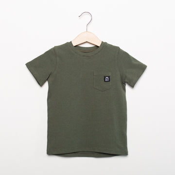 Short Sleeve Kids Essentials Tee - 'Olive'