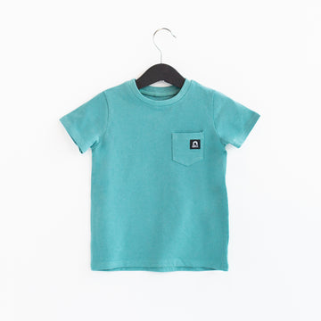 Short Sleeve Chest Pocket Kids Essentials Tee - 'Bristol Blue' - Summer