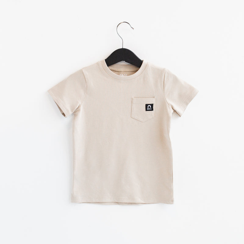 Short Sleeve Chest Pocket Kids Essentials Tee - 'Sand Dollar' - Summer
