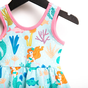 Tank Swing Dress - 'Under the Sea Floral' - Blue - Disney Collection from RAGS