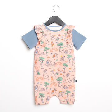 Short Sleeve Short Ruffle Rag Romper - 'Woodland Snow White' - Disney Collection from RAGS