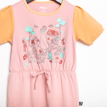 Puff Sleeve Gather Waist Rag Romper - 'Snow White and the Seven Dwarfs' - Disney Collection from RAGS