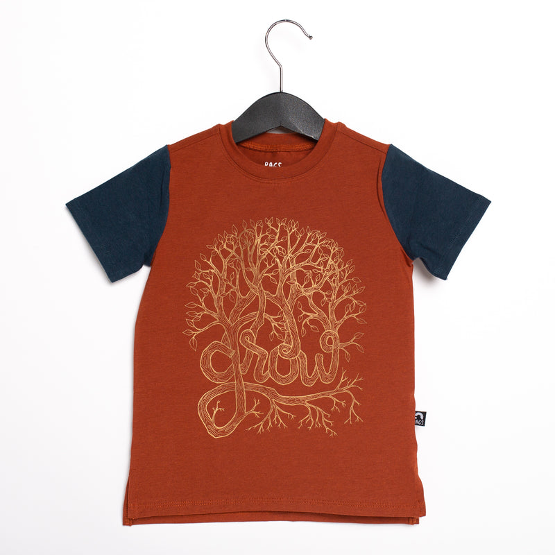 Short Sleeve Kids Tee - 'Grow' - Picante