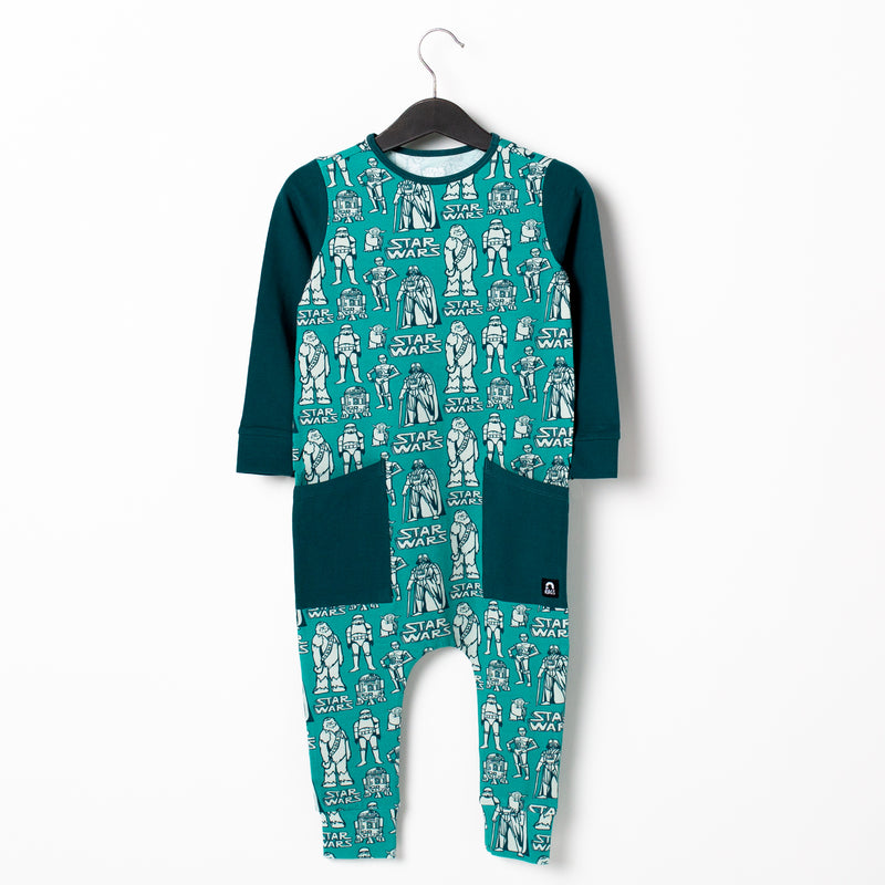 Long Sleeve Hip Pocket Rag Romper - 'Star Wars Characters' - Star Wars Collection from RAGS