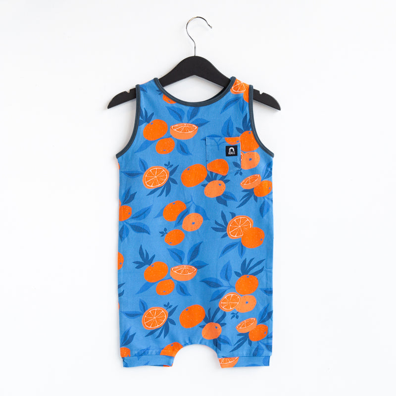 Tank Pocket Short Rag Romper - 'Oranges' - Ultramarine