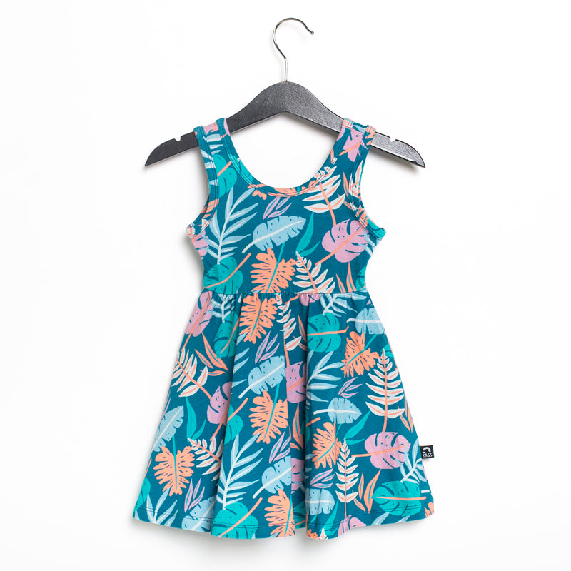 Tank Swing Dress - 'Palm Leaves' - Matisse