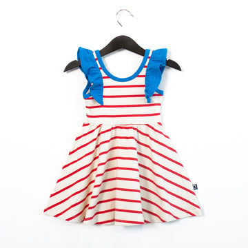 Tank Ruffle Swing Dress - 'Red White & Blue' - Regatta