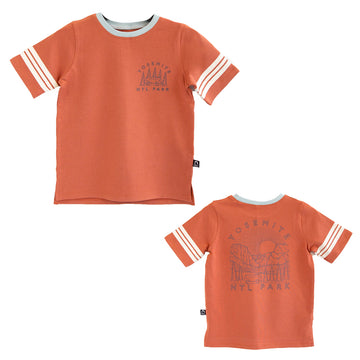 Retro Sleeve Kids Tee - 'Yosemite' - Aragon
