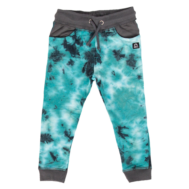 Kids Joggers - 'Turtledove Tie Dye' - Stone Blue