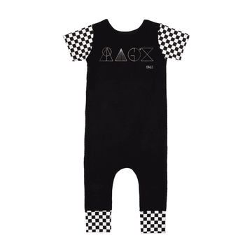 Short Sleeve Rag - 'Geometric RAGS' - Checker with Gold Foil