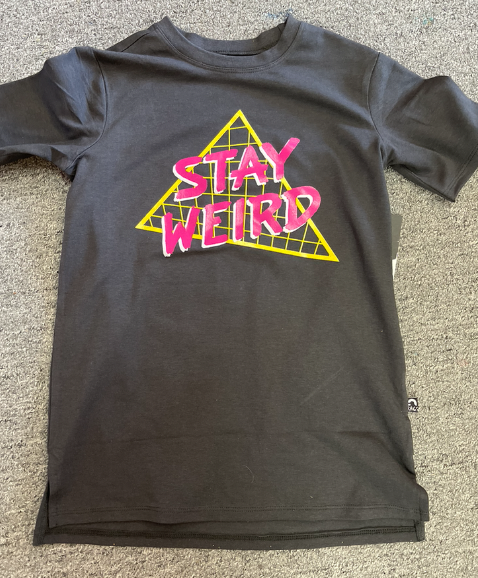 Short Sleeve Kids Tee - 'Stay Weird' - Phantom