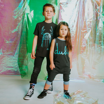 Short Sleeve Kids Tee - 'Trinny' - Rainbow Foil