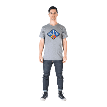 Unisex Adult Tee Shirt - 'Blast Off!' - Heather Grey