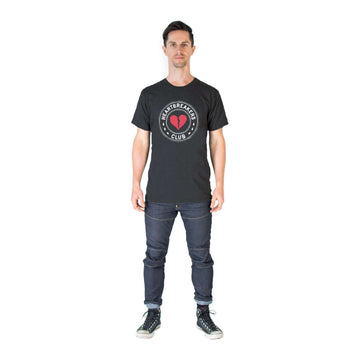 Unisex Adult Valentine's Tee Shirt - 'Heartbreakers Club' - Charcoal