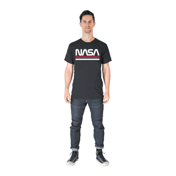 Unisex Adult Tee Shirt - 'The NASA Worm' - Charcoal