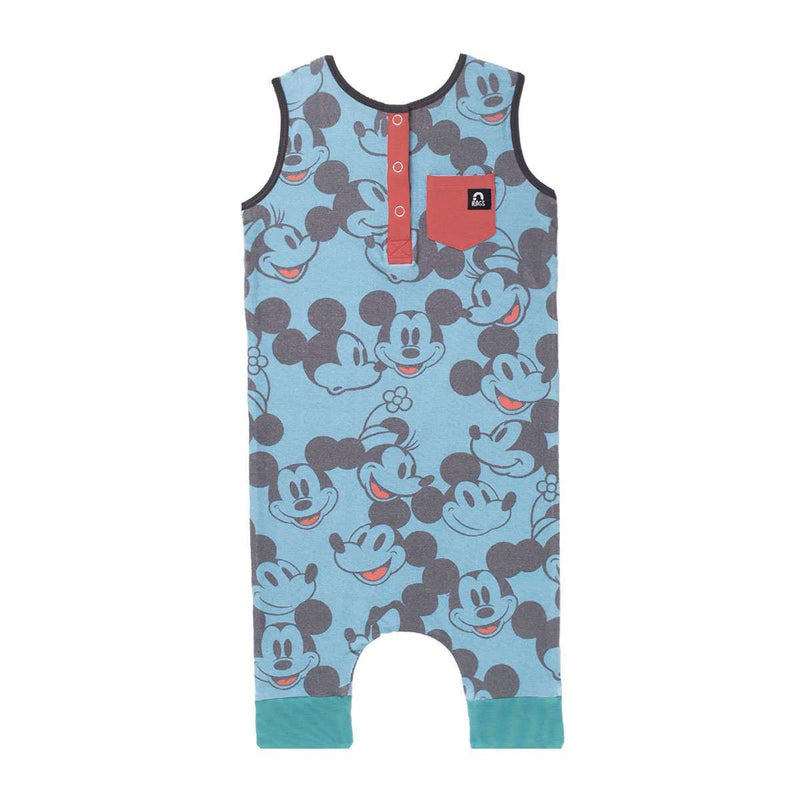 Tank Henley Capri Rag - 'Blue Vintage All-Over Mickey & Minnie' - Disney Collection from RAGS