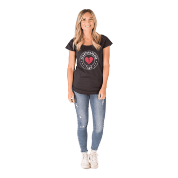 Women's Valentine's Tee Shirt - 'Heartbreakers Club' - Charcoal