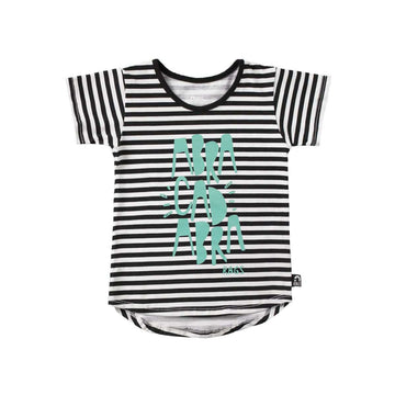 Kids OG Style Tee Shirt  - 'Abracadabra' - Black & White Stripe