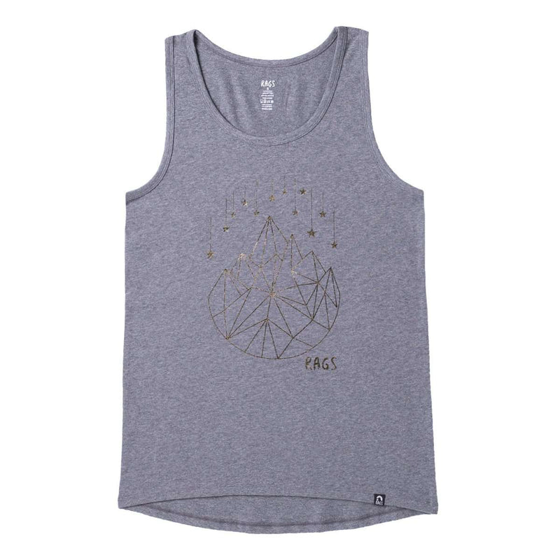 Adult Unisex Tank - 'Geostar' - Charcoal