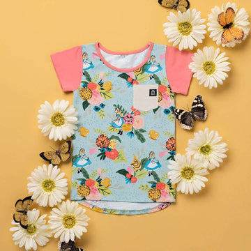 Kids Pocket Tee - '$23 at Checkout' - 'Alice in the Flowers' - Disney Collection from RAGS