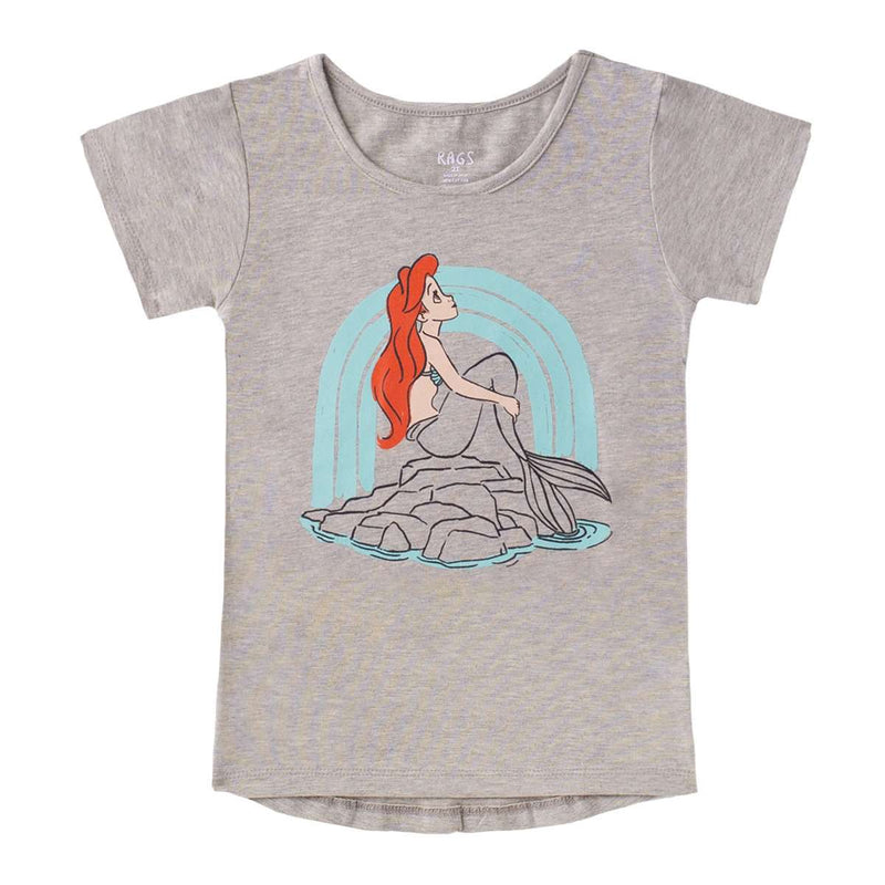 Kids OG Style Tee - 'Ariel' - Disney Collection from Rags - Heather Gray