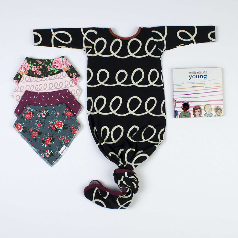 Girl Baby Pouch Bundle - 'Swirl'