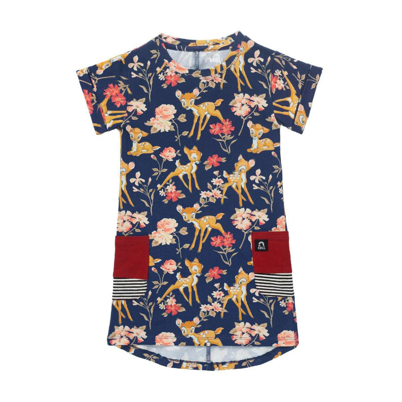 Drop Back Pockets Dress - 'Bambi Floral' - Disney Collection from RAGS