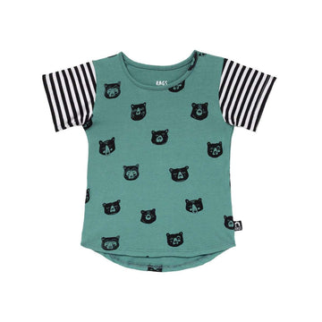 Kids Tee Shirt  - 'Sleepy Bears' - Blue Spruce