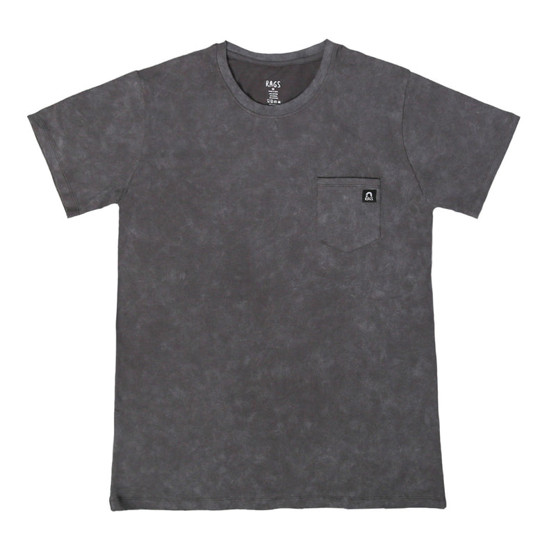 Adult Unisex Tee - 'Asphalt' - Stone Washed