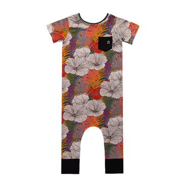 Short Sleeve Pocket Rag - 'Exotic Floral' - Multicolor