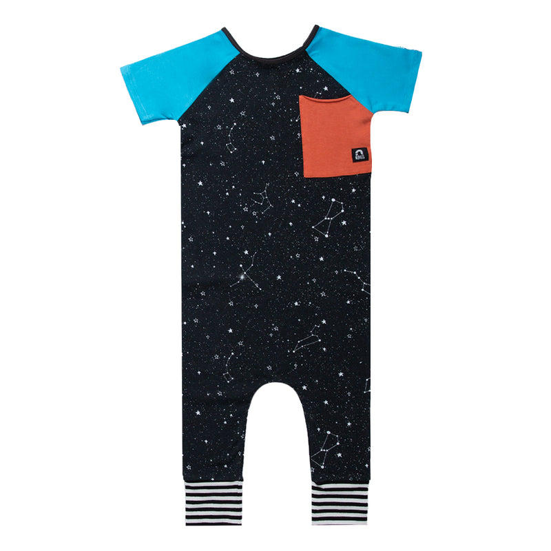 Short Sleeve Raglan Big Pocket Rag - 'Constellations'