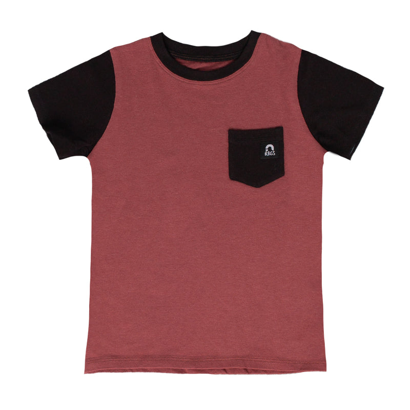 Short Sleeve Chest Pocket Tee - 'Apple Butter' - Licorice