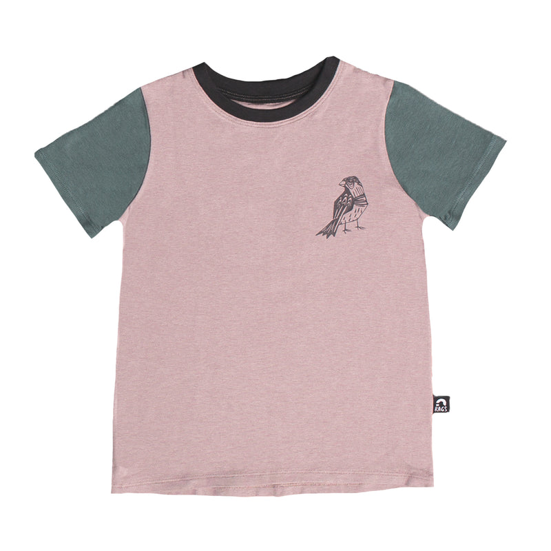 Short Sleeve Tee - 'Pretty Bird' - Purple Dove