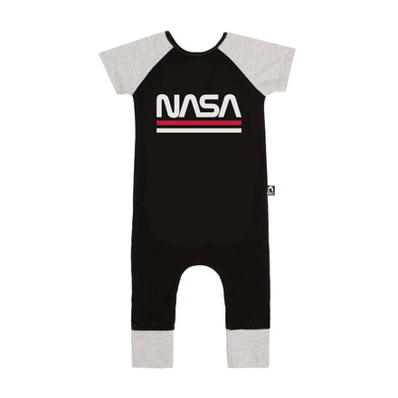 e56ea1bd Short Sleeve Raglan Rag - 'NASA Worm' - Black