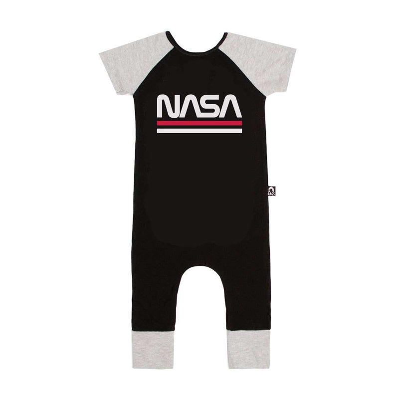 Short Sleeve Raglan Rag - 'NASA Worm' - Black