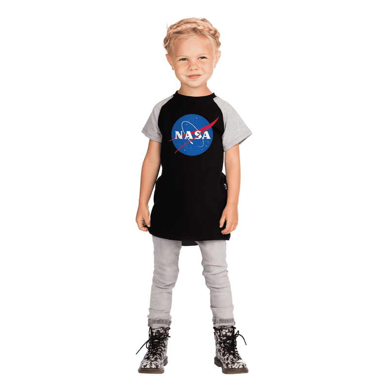 Kid's Raglan Drop Back Tee Shirt  - 'NASA Meatball'