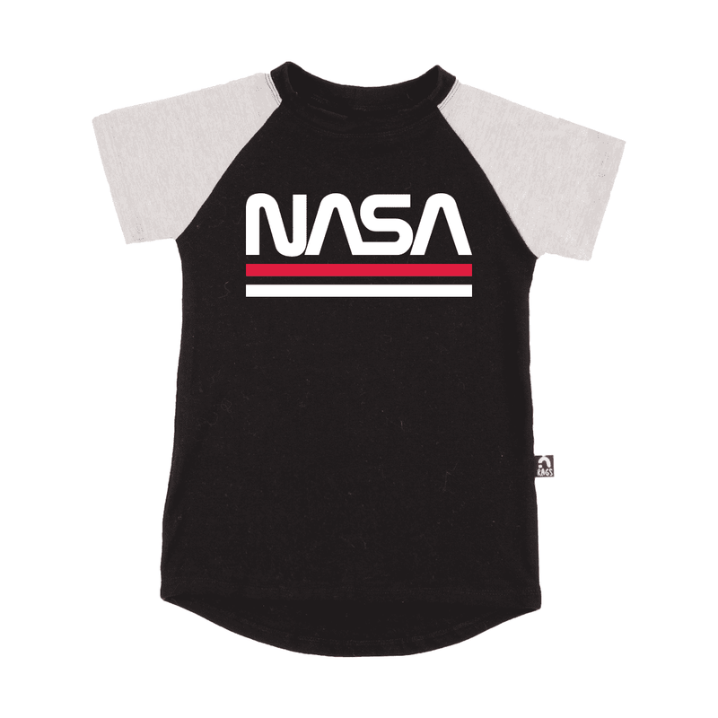 Kid's Raglan Drop Back Tee Shirt  - 'The NASA Worm'