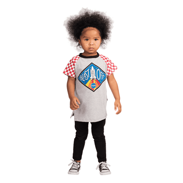 Kids Raglan Tee Shirt  - 'Blast Off!'