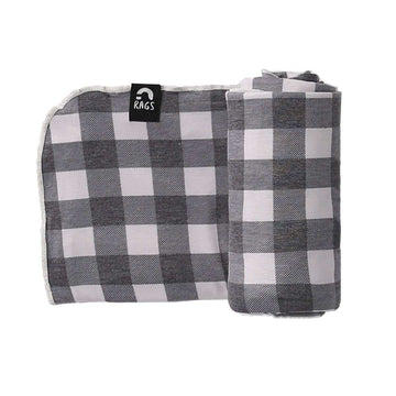 Baby Swaddle - 'Black & White Plaid'