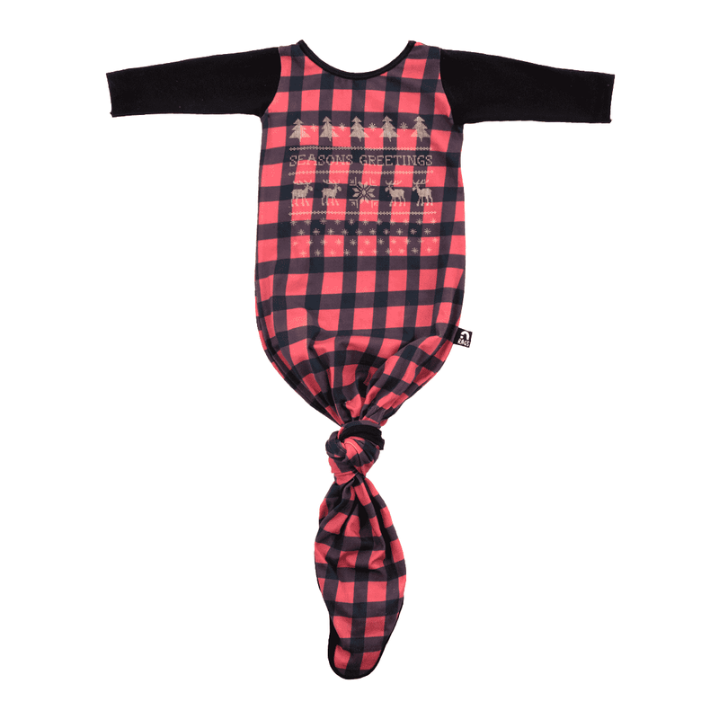 Holiday Baby Pouch - 'Buffalo Plaid Seasons Greetings'