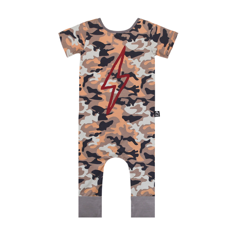 Short Sleeve Rag - 'Lightning' - Camo
