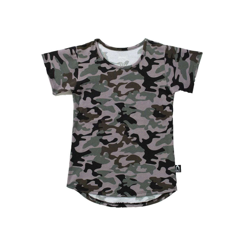 Kids Drop Back Tee Shirt  - 'Camo'
