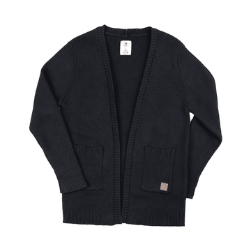 Adult Unisex Rib Trim Collar Cardigan - 'Slate'