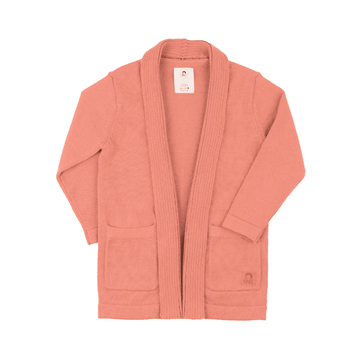 Kids Shawl Collar Cardigan - 'Blush'