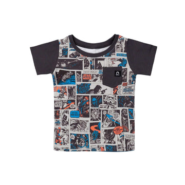 Short Sleeve Chest Pocket Tee - 'Star Wars Comic' - Star Wars Collection from Rags
