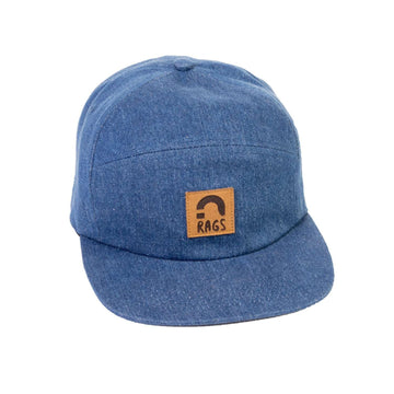 Kids Broken H Panel Clipback Hat - Denim 'RAGS'