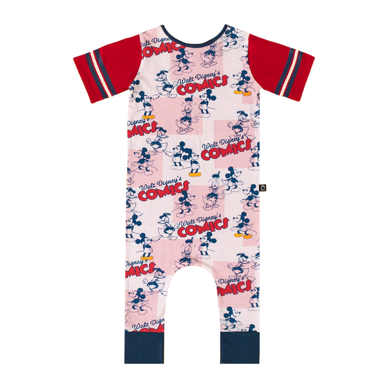 Retro Short Sleeve Rag Romper - 'Walt Disney's Comics' - Disney Collection from RAGS