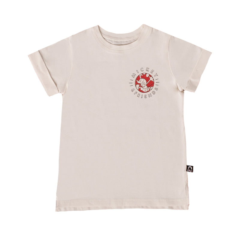 Rolled Sleeve Kids Tee - 'Mickey & Friends Double Sided' - Disney Collection from RAGS