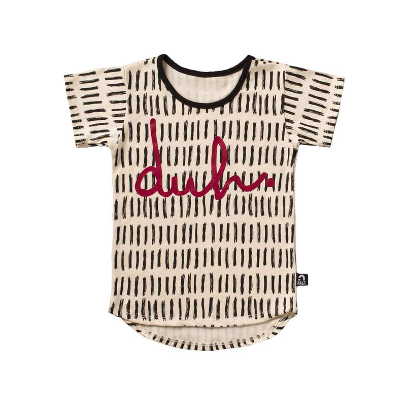 Kids OG Style Tee Shirt  - 'duh' - Tally